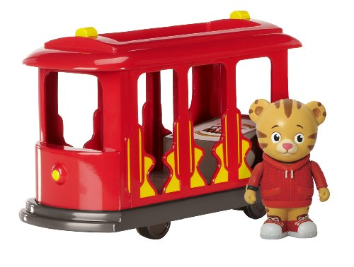 Daniel Tiger's Neighborhood Trolley with Daniel Tiger Figure (Red Trolley Toy compare prices)