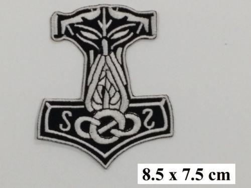 Mj? lnir Viking Loki Thor Hammer-Odin Skins Iron On-Patch ricamato 7,87 (3,1/8,2 cm x 6,10 (2,4 cm/7 cm dalla SSLINK