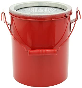 "Eagle B-606NL Bench Safety Can without Lid, 7-3/4"" Width x 9-1/2"" Depth, 6 qt Capacity, Red"