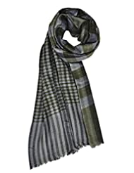 Elabore Women's Reversible Checkered Stole - Grey