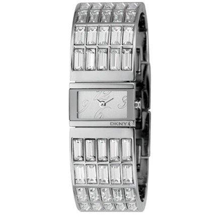 DKNY NY4254 - Reloj analógico manual para hombre con correa de piel, color negro