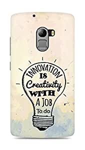 Amez Innovation is Creativity with a Job to do Back Cover For Lenovo K4 Note