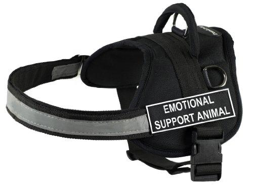 Dean & Tyler Works Harness, Emotional Support Animal, Medium-Fits Girth, 71cm to 97cm, Black/White