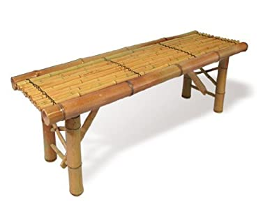 Sale New Tiki Bamboo Bench Tropical Coffee Table Patio Bar Bench Reviews M 890l