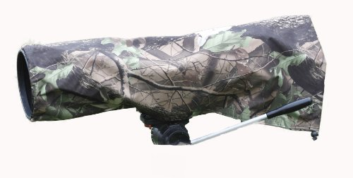 Rainsleeve Cover For Camera Lenses, Extra Large Size In An Attractive Leaf Pattern Material, Waterproof.
