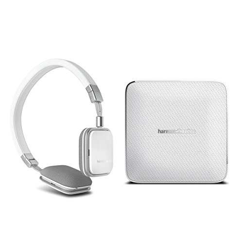 Harman Kardon Esquire Wireless Speaker System And Soho Headphones For Android (White)
