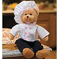 Animated Auntie Pasta Chef Bear Singing Plush Toy - Italian Amore Song by Chantilly Lane