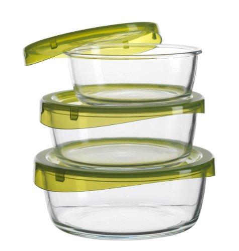 Luminarc Contenitori per alimenti, rotondi, confezione da 3: 39 cl, 63 cl e 88… image