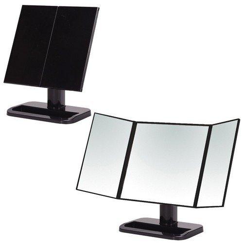 メイクアップミラー ブラック 三面鏡