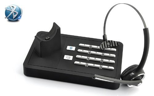 Handsfree Bluetooth Headset With Dock | Wireless Headset System With Bluetooth Mobile Phone Connection And Telephone Landline Connection