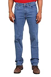 Wood's Stone Colored Solid Stretchable Denim Jeans For Men -32