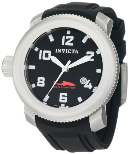 Invicta Pro Diver Men's Quartz Watch with Black Dial Analogue Display and Black Rubber Strap 1544