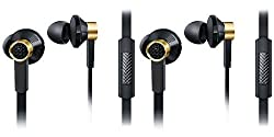 JIYANSHI combo of stylish earphone black Compatible with Onida Smart-i010