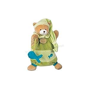Doudou et Compagnie Marionnette Theodore l'ours Poisson Vert