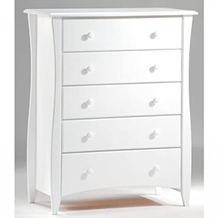 Clove Five Drawer Chest White