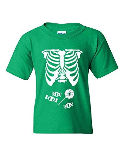 [Artix Kids Hallowen Costume Skeleton with Candies Halloween Fashion Children Gifts Unisex Youth Kids T-Shirt Tee Youth Small Irish] (Hallowen Contact Lenses)