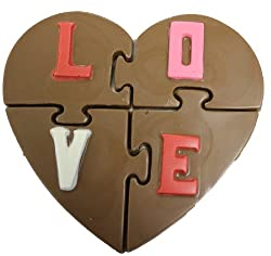 Milk Chocolate Heart Puzzle, I Love You Design, Valentine's, Mother's Day by Olde Naples Chocolate