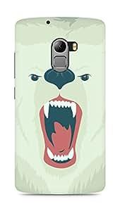 Amez designer printed 3d premium high quality back case cover for Lenovo K4 Note (Bear face art illust soft)