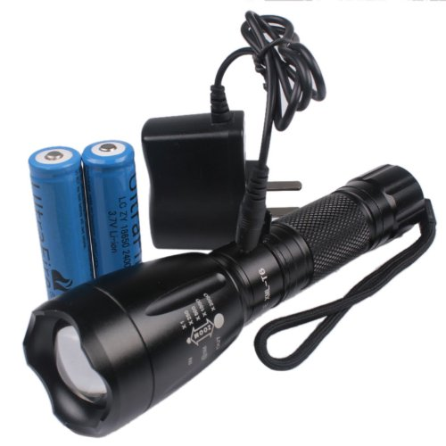 Enjoydeal Super Bright 2000 Lumens Cree Xm-L T6 Led Zoomable 5-Mode Flashlight Torch Zoom Lamp (With Batteries)