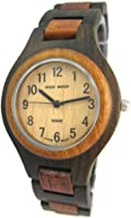 Tense Wood Watch Mens Two Tone Round Hypoallergenic Sandalwood G7509DS from Tense