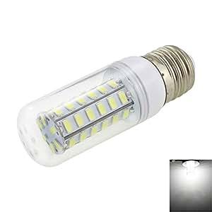 E27 4W 320lm 6500K White Light 48-SMD 5730 LED Corn Lamp Bulb (AC 110V)