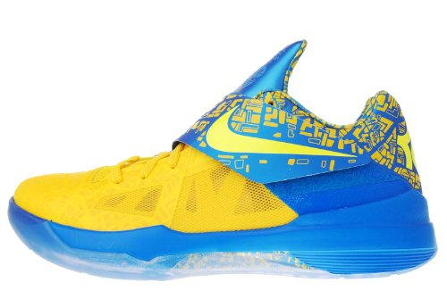 Nike Zoom KD IV 4 Scoring Title Yellow Blue Limited 473679-703