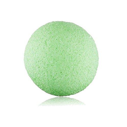 Natural Konjac Konnyaku Jelly Fiber Facial Clean Wash Sponge Puff Cosmetic Green