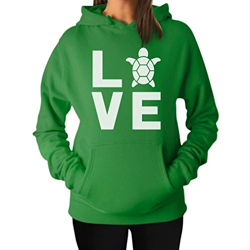 teestars-i-love-turtles-animal-lover-turtle-print-cute-women-hoodie-large-green