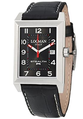 Locman Sport Stealth Rectangular Men's Quartz Watch 240BK2BK