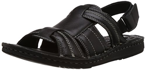 Bata Bata Men's Leather Sandals And Floaters (Brown)