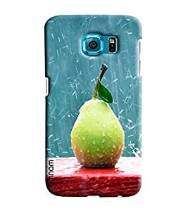 Omnam Rain Drops On Guava Printed Designer Back Cover Case For Samsung Galaxy S7 EDGE