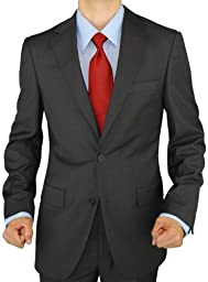 Presidential Giorgio Napoli Men\'s 2 Button Suit Separate Coat Blazer (44 Long US, Charcoal)