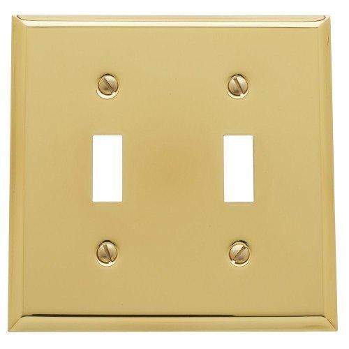 Yow- Baldwin Beveled Edge 2 Toggle Wall Plate - Polished Brass Model# 4761.030.Cd