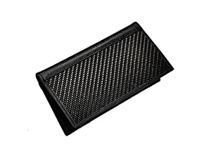 New Real Carbon Fiber & Black Leather Checkbook Holder
