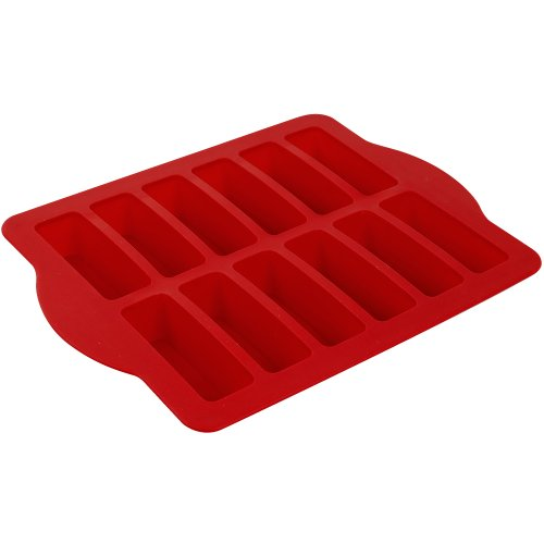 Steel Reinforced Silicone Dessert Bar Pan - Red