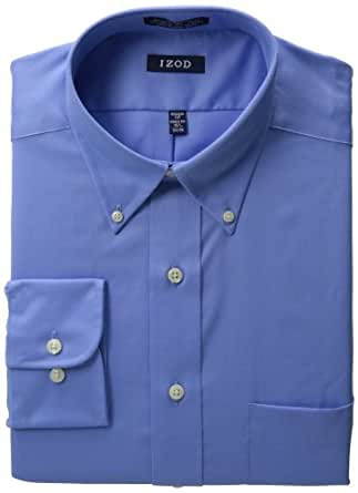 IZOD Mens Twill Dress Shirtt,Cornflower Blue,15 32/33