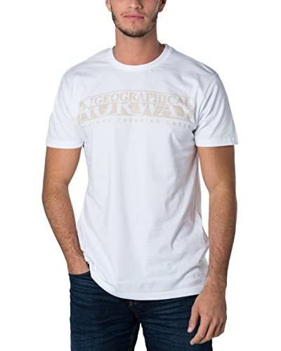 Geographical Norway Camiseta Manga Corta Snht Blanco