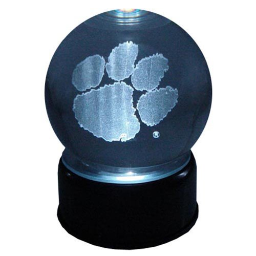 Clemson Tigers Logo Laser-Etched Musical Lit Crystal ball