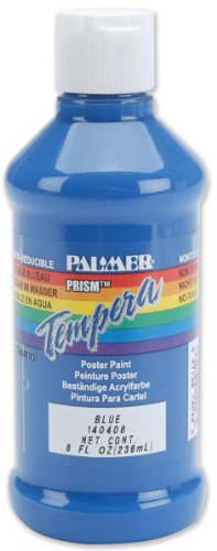 Palmer Prism Tempera Fluorescent Poster Paint, 8-Ounce, Blue