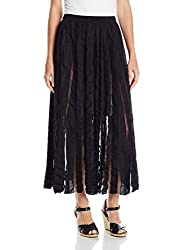Tracy Reese Women's Flared Skirt, Black, X-Small