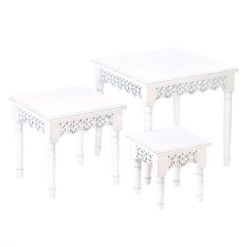 Koehler Home Indoor Decorative Accent Wooden Flourish Nesting Tables front-818495
