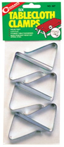 Coghlans 527 Table Cloth Clamps (Set of 6)