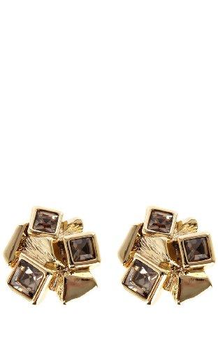 Cube cluster stud earrings