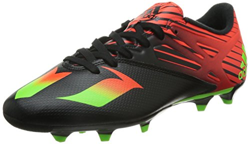 adidas Messi 15.3 Fg/Ag - Scarpe da Calcio Uomo, Multicolore (Core Black/Solar Green/Solar Red), 42 EU