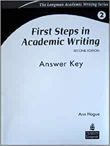 first steps in academic writing pdf