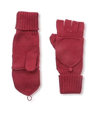 Alicia Adams Alpaca Women's Fingerless Gloves, Burgundy