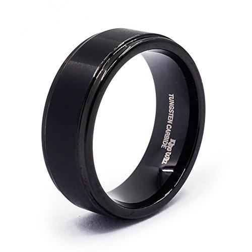 King Will 8mm Black High Polish Tungsten Men's Wedding