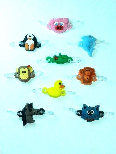 2-clip conector encantos para Rainbow telar pulseras (paquete de 9) (Animal Pack)