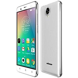 Winnovo K54 Smartphone 4G Débloqué 5.0 Pouces Android 5.1 Dual SIM MTK6735 Quad Core 8 Go ROM 8MP Caméra Métal Frame HD IPS 1280*720 Écran (Blanc)