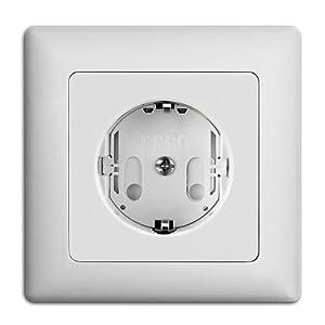Reer 3245.010 - Tapones de seguridad para enchufes, atornillables (10 unidades), color blanco de REICHL; WEBER, MARTIN en BebeHogar.com